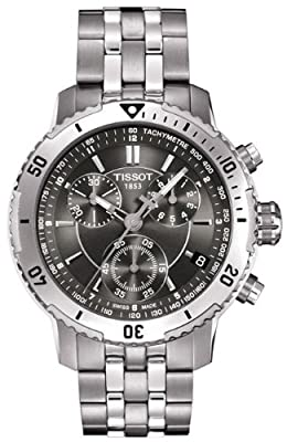 Tissot PRS200 Black Dial SS Chronograph Quartz Men's Watch T0674171105100