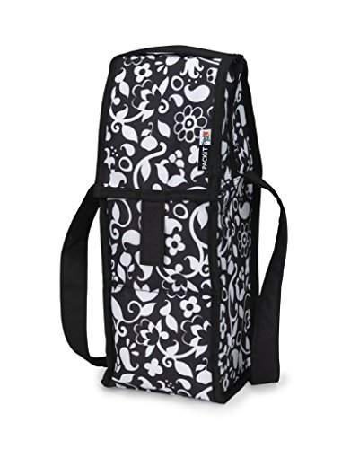 PackIt Freezable Wine Cooler Bag with Zip Closure, Vine (Portable Champagne Cooler compare prices)