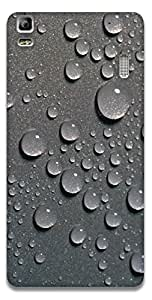 The Racoon Grip printed designer hard back mobile phone case cover for Lenovo A7000. (Raindrops)