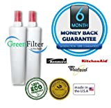 Whirlpool Kenmore 4396508, 4396510, 4392857, WF-NL240V, WF285, QTSS Compatible Water Filter 2 Pack