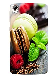 Blue Throat Burger With Flower Hard Plastic Printed Back Cover/Case For HTC Desire 828