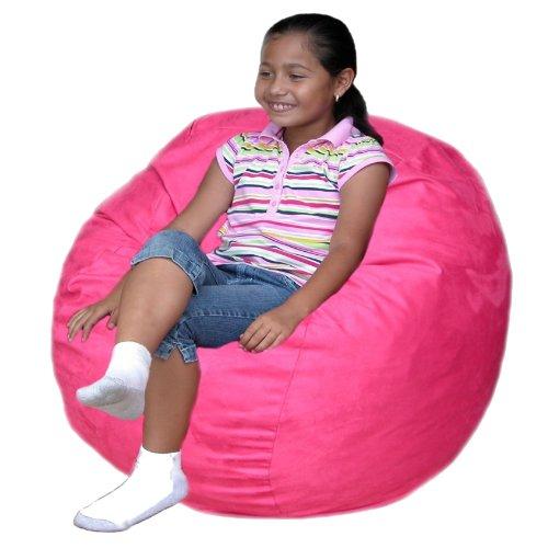 Cozy Sack 2 Feet Kids Foam Bean Bag Chair Small Hot Pink