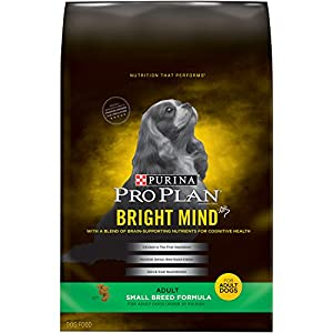 Purina Pro Plan Dry Dog Food, Bright Mind, Adult Small Breed Formula, 5-Pound Bag, Pack of 1