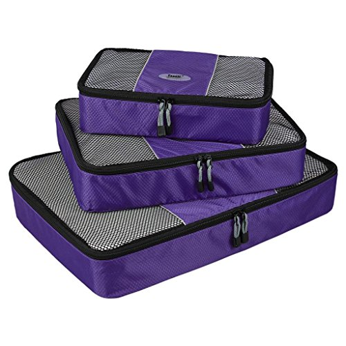 Packing Cube Zi Travel Luggage Organizer Bags Value Set for Travel Durable 3 Piece Weekender Set