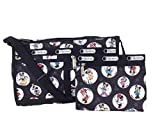 LeSportsac Disney Minnie Mouse Kasey Deluxe Shoulder Stash Crossbody Bag, Celebrate Minnie