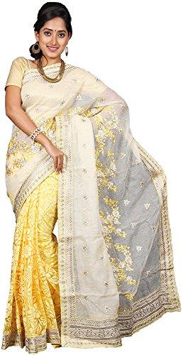 Vinaa Sarees Women's Jute Saree (A1000017