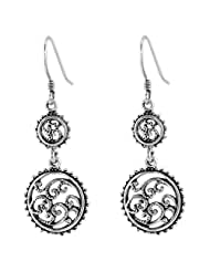 925 Silver Floral Design Sterling Silver Dangler Dangle & Drop Earrings For Women-17057