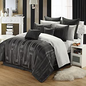 Chic Home Tribeca 12-Piece Bed-in-a-Bag, Queen, Jacquard