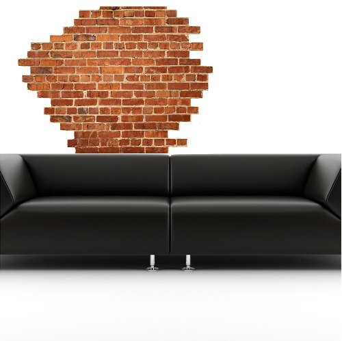 Funk 39 n artsy with brick wall decals funk this house for Brick wall decal mural