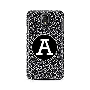 Motivatebox- Beautifully designed Alphabet B - Gift for persons with initial A Samsung Galaxy Note 7 cover -Matte Polycarbonate 3D Hard case Mobile Cell Phone Protective BACK CASE COVER. Hard Shockproof Scratch-