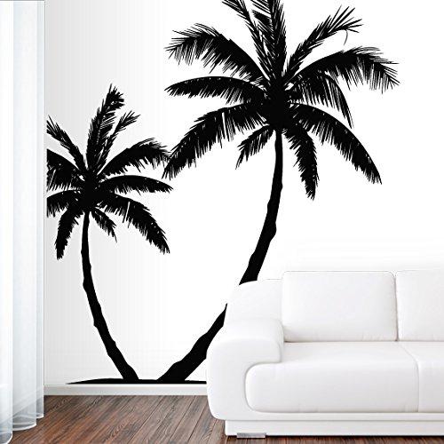 Wall Decal Vinyl Sticker Decals Art Decor Design Couple Palm Branch Beach Tree Hawaii Sun Summer Surf Dorm Bedroom Mural Modern Dorm (R647) front-676311