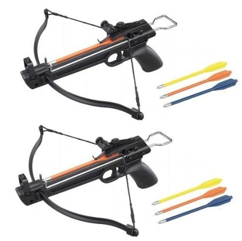 2-Pack-50-Lb-Crossbow-Gun-Pistol-Hand-Held-Archery-Hunting-Cross-Bow-w-Arrows