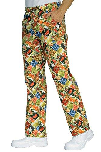 044623 Pantalone con elastico Fruit per Abbigliamento per la cucina per Abbigliamento per settori sanitario, benessere ed estetico per Divise ufficiali Federazione Italiana Cuochi FIC Donna Uomo Pantaloni