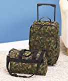 2-piece Kids Boy's Children's Army Camo Luggage Set