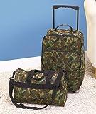 2-piece Kids Boy's Children's Army Camo Luggage Set