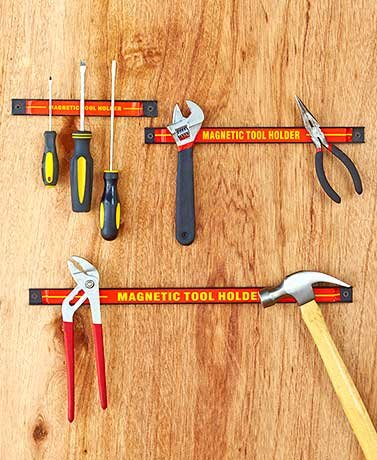 3 Pieces Magnetic Workshop Organizer (Red Color) -Hold Tools Without Taking up Space on Your Workbench