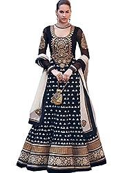Divyaemporio Women'S Black Faux Georgette Salwar Suits Dress Material