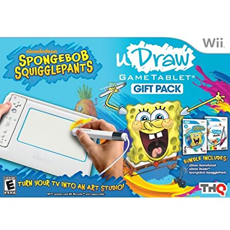 uDraw Game Tablet with SpongeBob Squigglepants and Studio Bundle