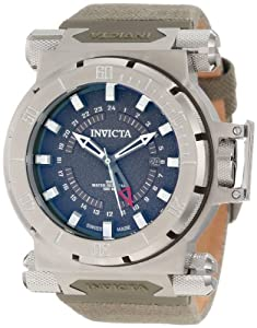 Invicta Men's 10031 Coalition Forces GMT Green Dial Green Fabric Watch