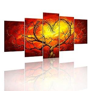Bild auf leinwand xxl herzbaum harmonie 200x100 cm - Wandbilder amazon ...