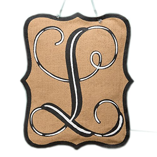 Glory Haus Burlee Initial L Wall Hanging, 21 x 17-Inch