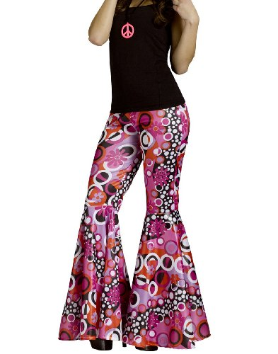 Flower Power Bell Bottoms Costume - Medium/Large - Dress Size 10-14