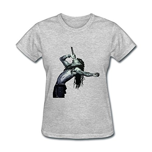 OMMIIY Women's Lil Wayne Logo T-Shirt Grey XXL (Lil Wayne Sorry For The compare prices)