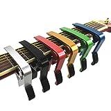 Haibei ワンタッチ ギター カポ タスト お手入れ用 ファイバークロス 安心安全メーカー セット! フォーク エレキ クラシック アコースティック (ゴールド)