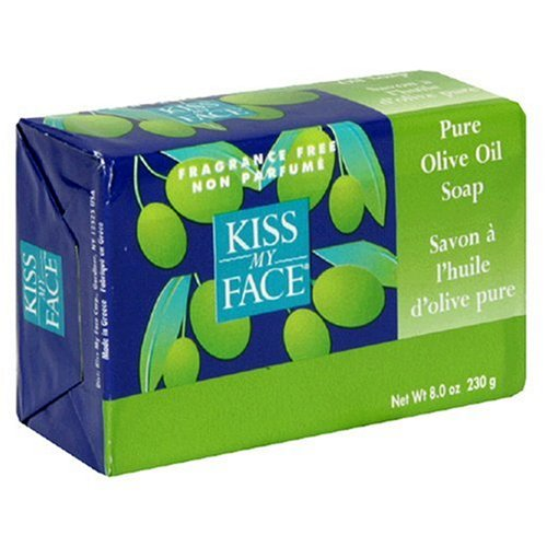 Kiss My Face Pure Olive Oil Bar Soap, 8-Ounce Bars (Pack of 8)