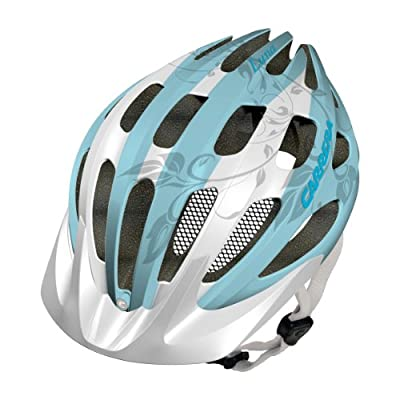 Carrera Luna Womens MTB Helmet - White/Turquoise from Carrera