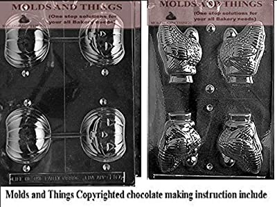 Turkey chocolate candy mold and Pumpkin chocolate candy mold With © Candy Making Instruction