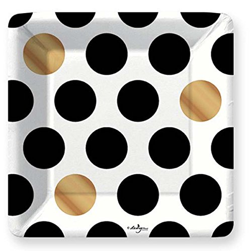 Design Design Kenzie Black White Gold Polka Dots Paper Salad Dessert Plates (8 count)  sc 1 st  Shopswell & Design Design Kenzie Black White Gold Polka Dots Paper Salad Dessert ...