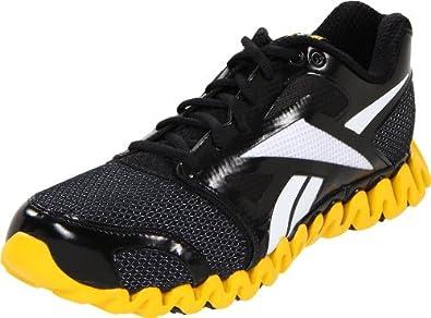 Reebok Men's Zignano Fly 2 Running Shoe,Black/Blaze Yellow/White,8 M US