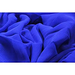 Aagaman Fashions Chiffon Fabrics (TSFDY30_Blue)