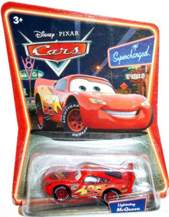 Lightning McQueen Supercharged Background Card Edition 1:55 Scale Mattel