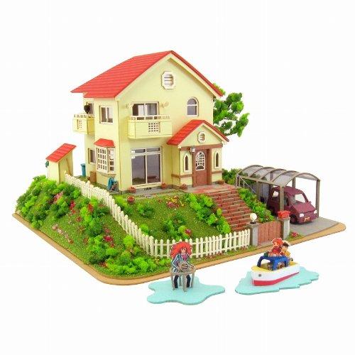 1/150 宗介とポニョの家 MK07-08 ペーパークラフト (崖の上のポニョ)