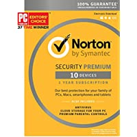 Norton Security Premium for 10 Devices [Key Card]