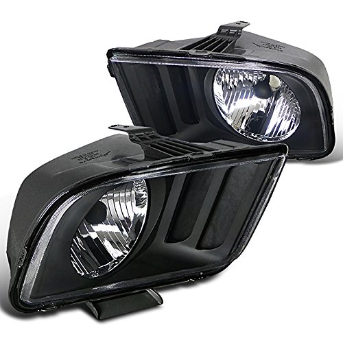 Spec-D Tuning LH-MST05JM-RS Ford Mustang V6 V8 Black Crystal Headlights Head Lamps (Ford Mustang V6 compare prices)