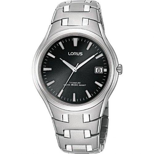 LORUS GENTS Bracelet Titanium RD BK BT