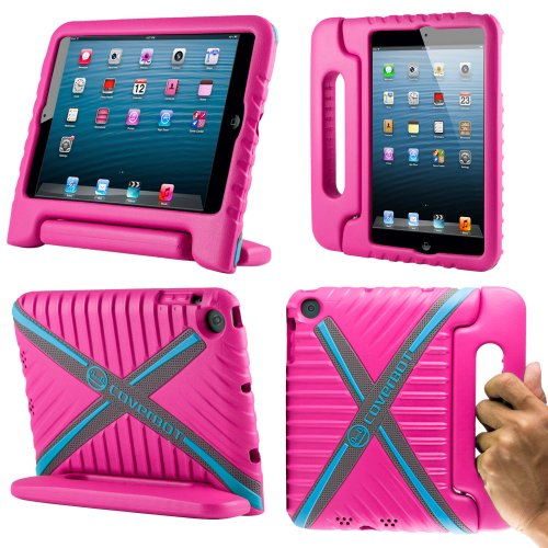 Coverbot Ipad Mini & Ipad Mini With Retina Display Kids Case Cover With Handle Stand Hot Pink Made From Tough Eva Foam