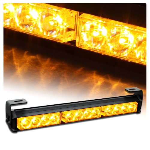 "14"" Emergency Warning Traffic Advisor Vehicle Strobe Light Bar - Amber"