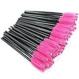 Jmkcoz 100pcs Disposable Portable Mascara Brushes Applicator Makeup Brush Set Eyelash Wands Pink