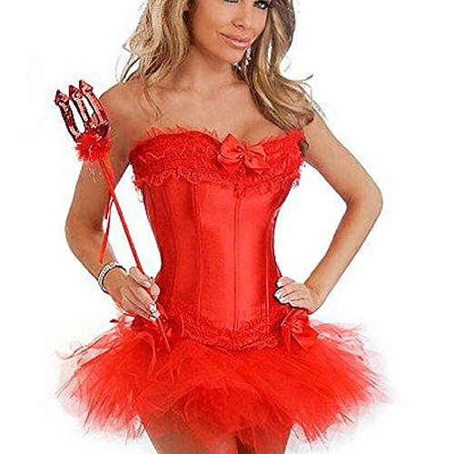 Tutto acciaio Palazzo nozze corsetto sexy gilet poliestere corsetto , red , 5xl