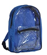 Clear PVC Security Backpack, Royal Blue by BAGS FOR LESSTM