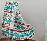 Ensemble de literie pour couffin panier pour bébé, baldaquin du coton (dessin: petites voitures)...