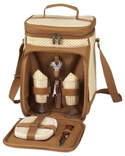 Picnic at Ascot Bahamas Collection Wine and Cheese Cooler for 2