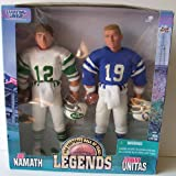 1998 Starting Lineup - Pro Football Hall of Fame Legends - Joe Namath and Johnny Unitas