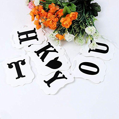 Feichen MERCI carte de mariage Mariage Bannière Connexion Décoration Photo Prop soirée de mariage