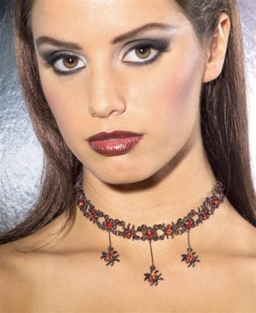 Rubie's Costume Co Red Gothic Spider Necklace Costume - 1