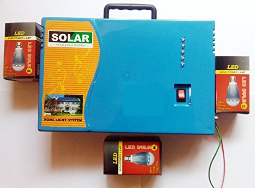 Portable home LED Inverter With EXIDE BATTERY 45 watt Electric and Solar